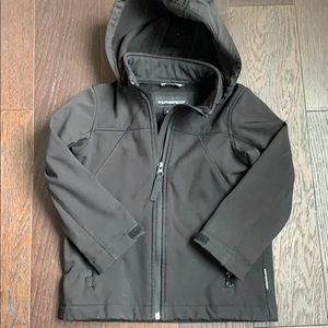 Weatherproof Black Jacket with Removeable Hood